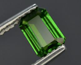 Emerald Cut 1.00Ct Natural Tsaverite Garnet Garnet