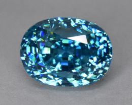 14.95 Cts Dazzling Wonderful  Natural Cambodian Blue Zircon