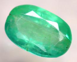 Emerald 1.32Ct Natural Zambia Green Emerald E0919/A38