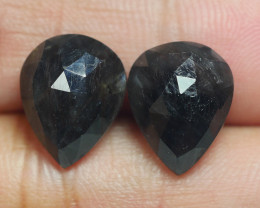 12.160 CRT PAIR BEAUTIFUL FACETED AMAZING MADAGASCAR RUBY -