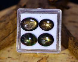 Star Sapphire 14.06Ct Natural Thailand Golden Black Star Sapphire Lot A0543