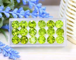 Peridot 25.59Ct Round Cut Natural Neon Green Color Peridot Lot A0558