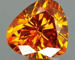 *NR* Wow! Diamond Orange tone 0.36Ct NO TREATMENT