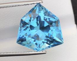 Amazing Laser Cut 17.50Ct Natural Swiss Blue Color Topaz