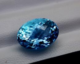 9.65Crt Blue Topaz Natural Gemstones JI60