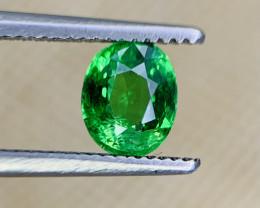 0.84 Carats vivid Green Natural Tsavorite Gemstone