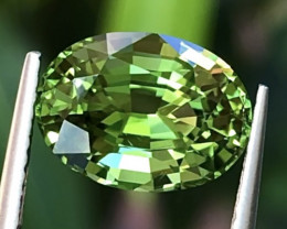 3.19 ct Mint Color Tourmaline With Excellent Luster And Fine Cutting  Gemst