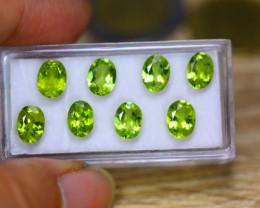 10.58ct Natural Green Peridot Oval Cut Lot V7522
