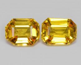 Sapphire 0.97 Carat 2pcs Natural Fancy Orange Yellow Color