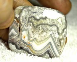 79.40 Carat Lace Agate Cabochon 42mm - Gorgeous