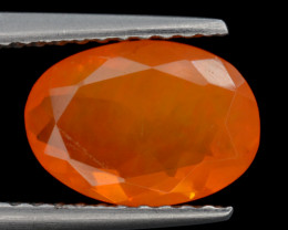 Mexican Fire Opal  1.10 Cts Faceted Gemstone