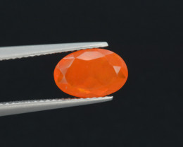 Mexican Fire Opal  1.25 Cts Faceted Gemstone