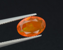 Mexican Fire Opal  1.30 Cts Faceted Gemstone
