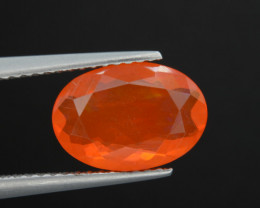 Mexican Fire Natural Opal 1.63 Cts Faceted Gemstone.