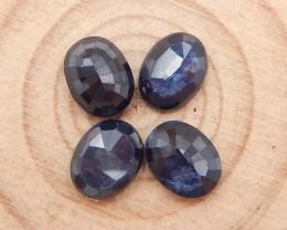 4pcs High Quality Sapphire Cabochons ,September Birthstone  B237