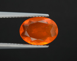 Mexican Fire Opal  1.67 Cts Faceted Gemstone