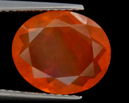 Mexican Fire Opal  2.40 Cts Faceted Gemstone