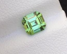Top Asscher Cut 0.85Ct Mint Green Tourmaline From Afghanistan. ARA1