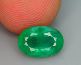 Top Quality 1.50 ct Zambian Emerald Vivid Green Color