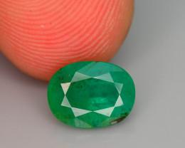 Top Quality 1.30 ct Zambian Emerald Vivid Green Color