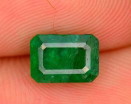 Top Quality 1.45 ct Zambian Emerald Vivid Green Color