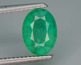 Top Quality 1.95 ct Zambian Emerald Vivid Green Color