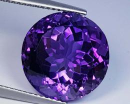 4.07 ct  Top Quality Gem  Round Cut Natural Purple Amethyst