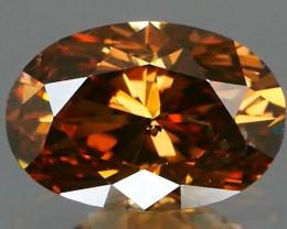 *NR* NO TREATMENT Fancy Color Diamond Oval 0.67Ct