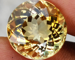 13.80 CTS NATURAL CITRINE FLAWLESS ROUND EXCELLENT UNHEATED