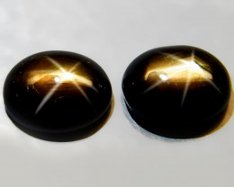 4.57 Tcw. Matched Thailand Black Star Sapphires - Gorgeous