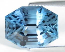 11.30Cts Sparkling Natural London Blue Topaz Fashion Fancy Cut Loose Gem VI