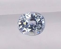 0.73ct unheated Light blue sapphire