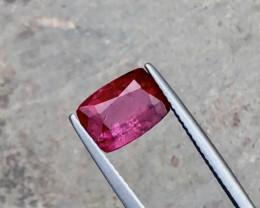 2.05 Carats Rubelite Tourmaline Cut Stone