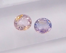 1ct unheated light pink and purple sapphire