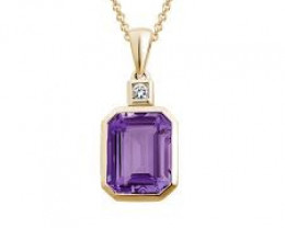 Pendant Size Bi Color Attractive Look 12.10 cts of Natural Amethyst Ring Si