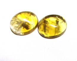 8.88tcw Citrine Matching Oval Cabochons