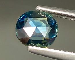 1.23ct Greenish Blue Sapphire - Australia / Rose-Cut/ 7.43 x 6.75mm/Certifi