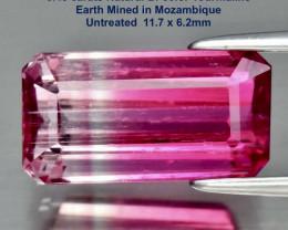 3.45ct Bi-color Tourmaline - Clear/Pink 11.7 x 6.2mm