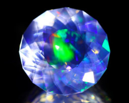 ContraLuz 7.58Ct Round Cut Mexican Very Rare Species Opal B0605