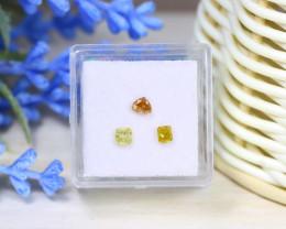 Diamond 0.68Ct 3Pcs Natural Untreated Genuine Fancy Diamond B0616