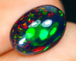Opal 2.75Ct Natural Bright Color Play Welo Black Smoked Opal B0666