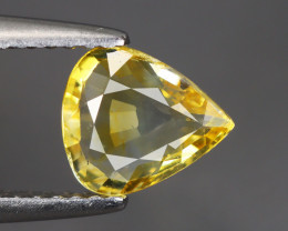 1.07 Cts Yellow Sapphire Pear 100% Natural Unheated From SriLanka
