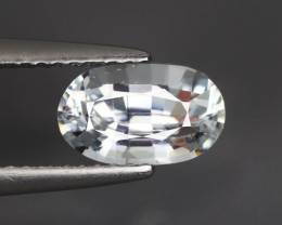 1.840 Cts White Sapphire Oval 100% Natural Unheated From SriLanka