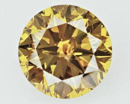 1.04 cts , Rarest Brown yellow Diamond , GIA certified
