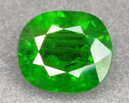 CERTIFIED 3.29 CTS EXCELLENT NATURAL VIVID GREEN TSAVORITE
