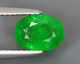 1.735 Cts Tsavorite Oval Chrome Green Garnet 100% Natural Unheated