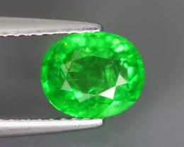 1.505 Cts Tsavorite Oval Chrome Green Garnet 100% Natural Unheated