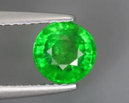 1.240 Cts Tsavorite Round Chrome Green Garnet 100% Natural Unheated