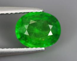 1.850 Cts Tsavorite Oval Chrome Green Garnet 100% Natural Unheated