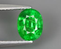 1.715 Cts Tsavorite Oval Chrome Green Garnet 100% Natural Unheated